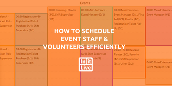 How to Schedule Event Staff and Volunteers Efficiently