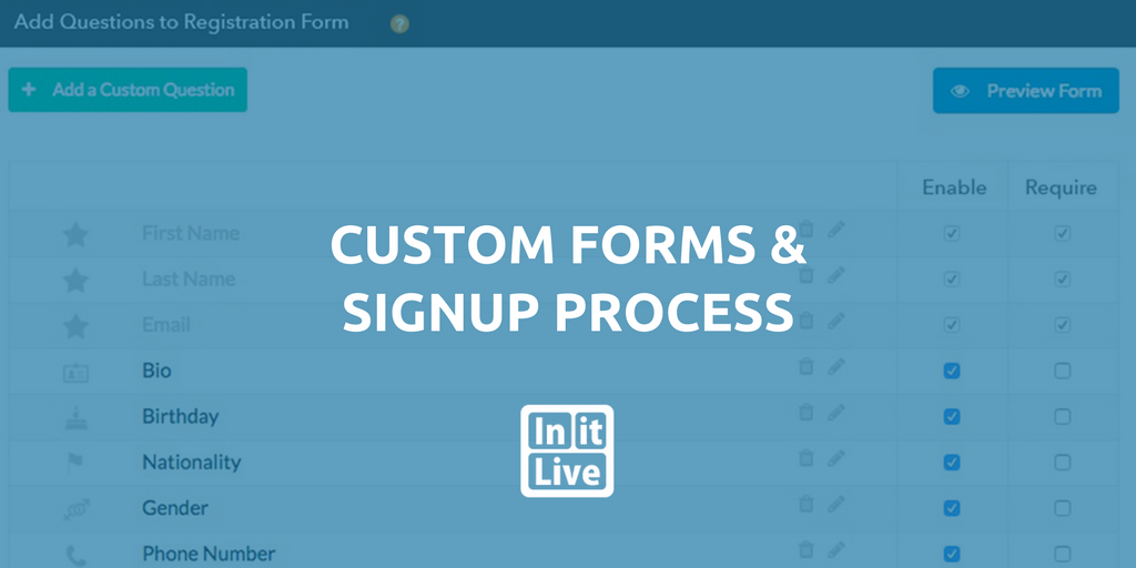 Custom Registration Forms - Volunteer Management