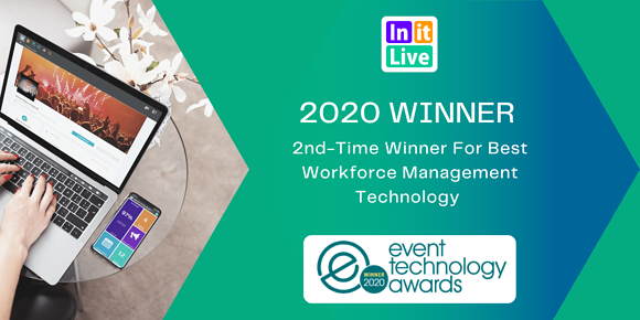InitLive Wins 2020 Event Technology Award For Best Workforce Management Technology For The Second Year