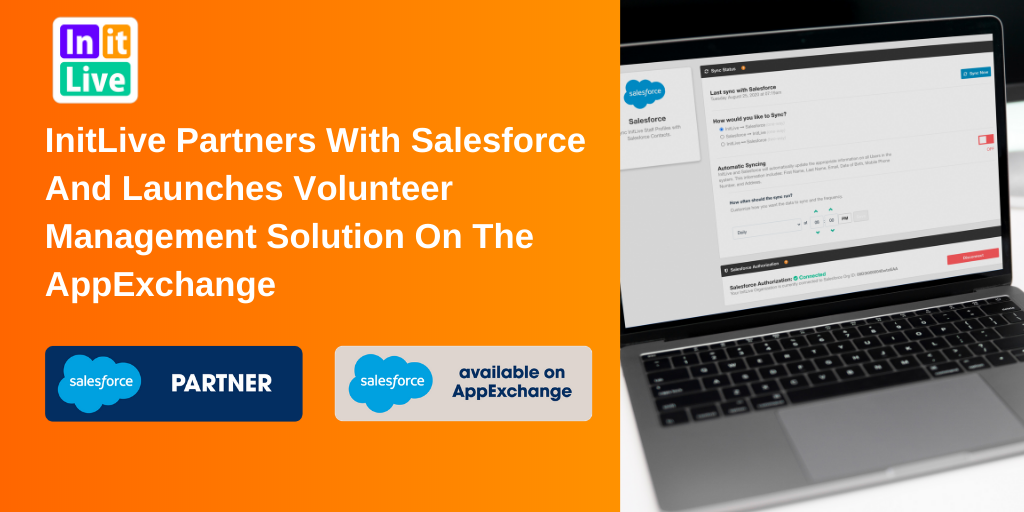 InitLive Partners with Salesforce and Launches Volunteer Management Solution On The AppExchange (1)