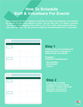 event staff scheduling
