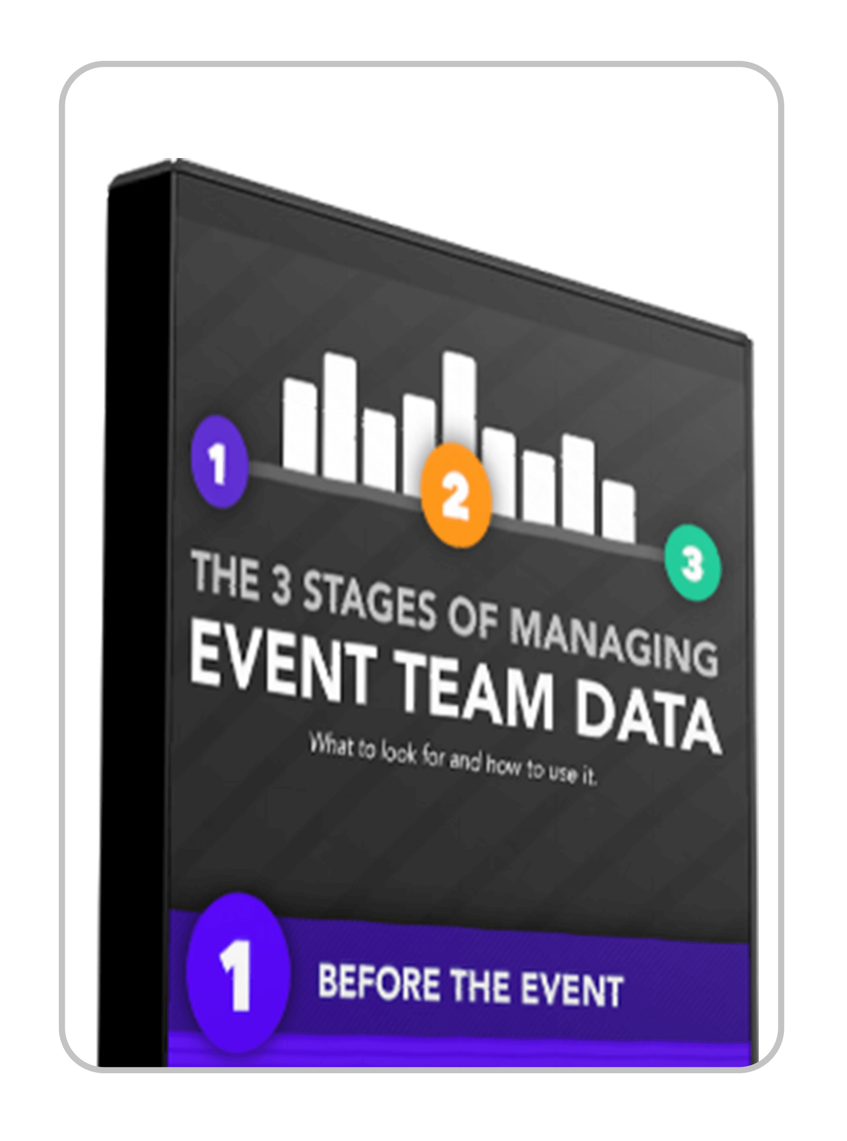 The 3 Stages of Managing Event Team Data Infographic