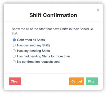 Shift-Confirmation-filter