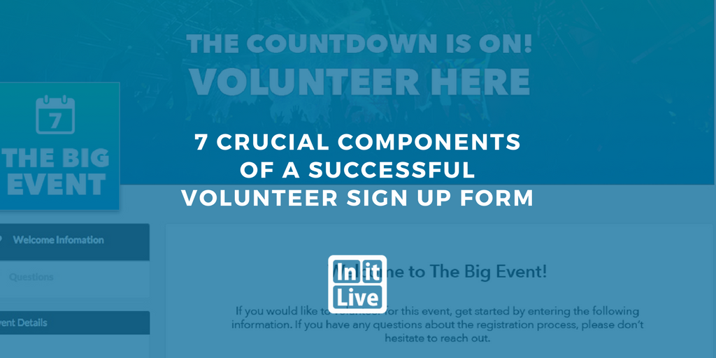 7 crucial components of a successful volunteer sign up form