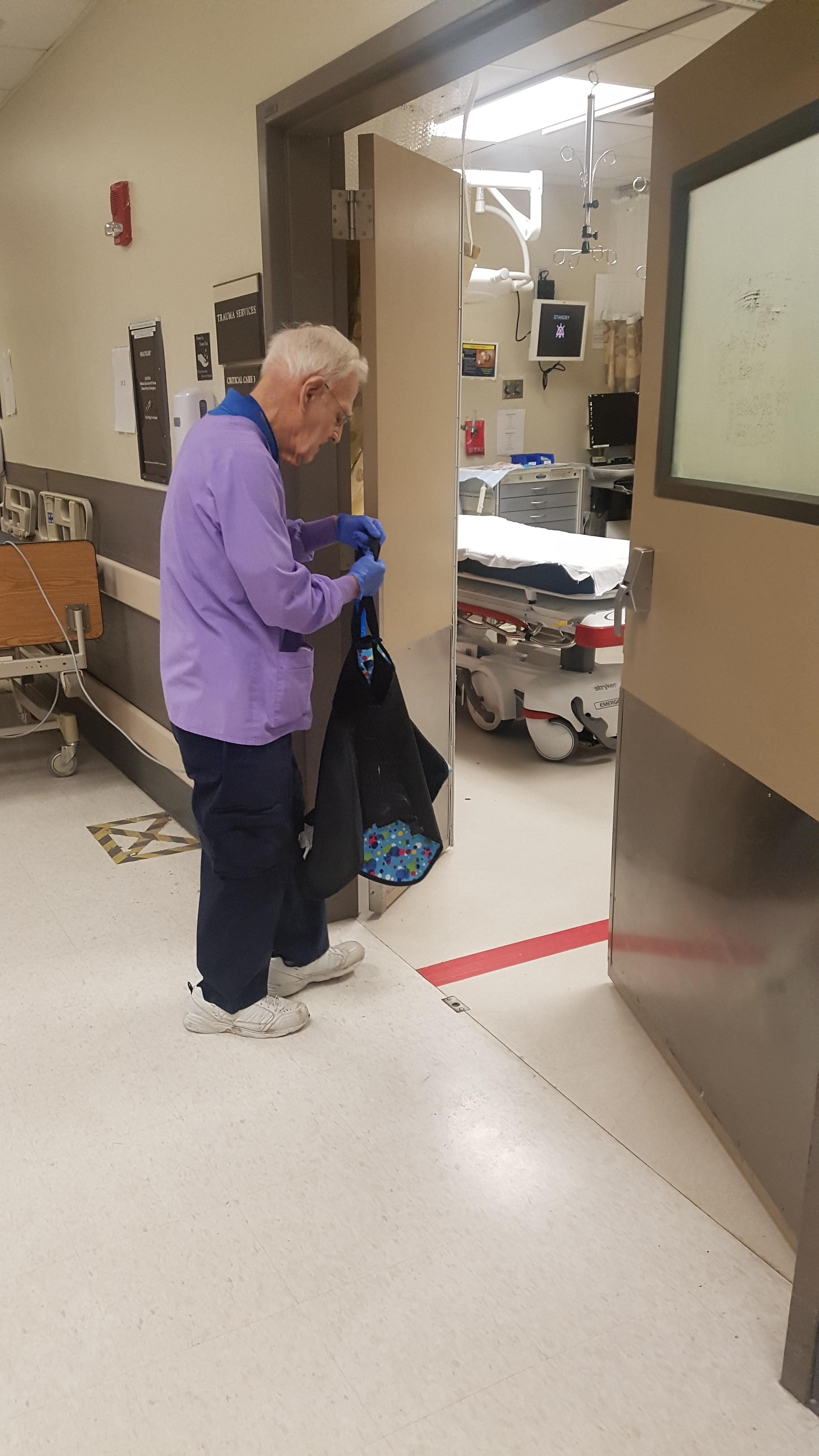 Volunteer Working At the Hospital